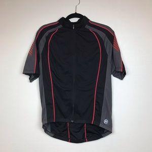 Novara Biker Shirt 1/4 Zip Black Red